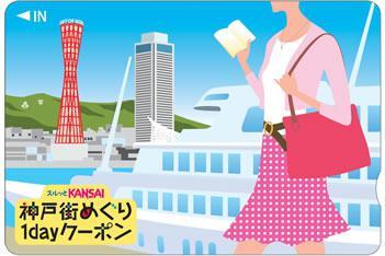 スルッとKANSAI 神戸街めぐり1dayクーポン(神戸エリア版)